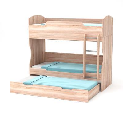 a9417987516 HOSTEL Κρεβάτι Κουκέτα 203x93.2x185 Φυσικός Δρυς με Σκάλα και Βάση (τάβλες)  Στρω