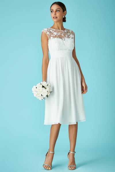 2a85d10f254 bridal αέρινο φόρεμα δαντέλα 3d floral midi