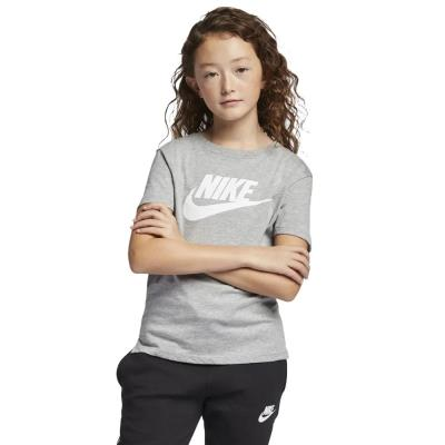264dd774660 Nike Sportswear Kid's T-shirt AR5088-063 - DK GREY HEATHER/WHITE