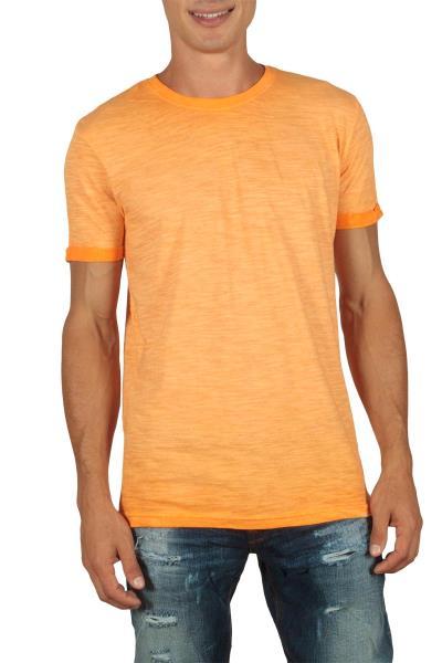 Ανδρικό longline t-shirt πορτοκαλί μελανζέ - 20302-or 2cba53a94c8