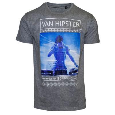 71365-04 Ανδρικό T-shirt με τύπωμα - γκρί db1386b6dc0