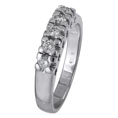 Γυναικείο δαχτυλίδι με μπριγιάν Κ18 024518 024518 Χρυσός 18 Καράτια f34939c20be