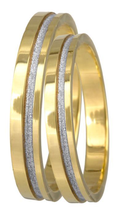 Βέρες γάμου δίχρωμες Κ14 022685 022685 Χρυσός 14 Καράτια μεμονωμένο τεμάχιο db51430a442