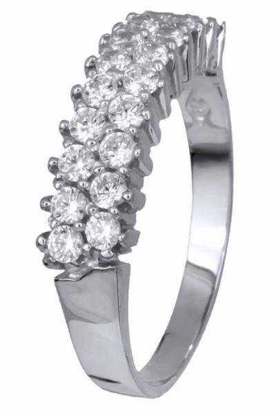 Λευκόχρυσο σειρέ δαχτυλίδι 14Κ 002098 002098 Χρυσός 14 Καράτια 384fda58460