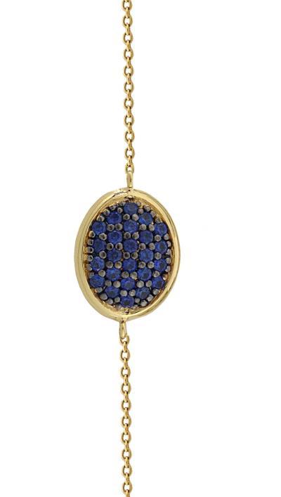 Βραχιόλι Vogue χρυσό ασήμι 925 με μπλε ζιργκόν 876132.1 be47a0597c5