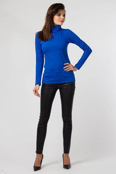 bc37b0fba97a Μακρυμάνικη μπλούζα με ζιβάγκο - Μπλε Ρουαγιάλ
