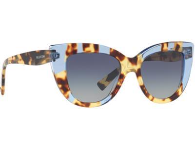 Γυαλιά ηλίου Valentino VA 4025 50564L Κίτρινη Μπλε Ταρταρούγα Ανοιχτό Μπλε  Ντεγκ a7f7e5bb44f