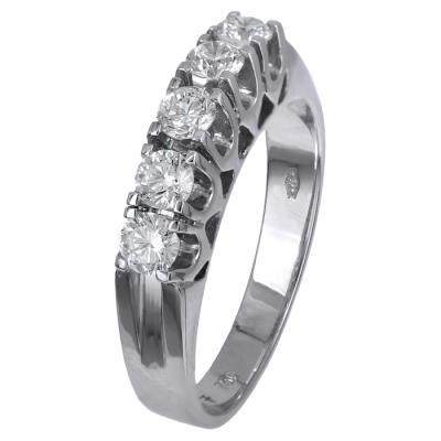Σειρέ δαχτυλίδι με διαμάντια Κ18 024519 024519 Χρυσός 18 Καράτια f55a1648633