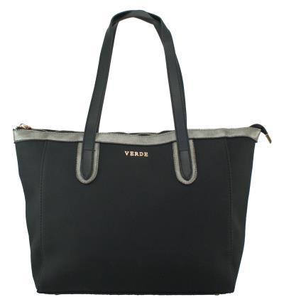 Γυναικεία τσάντα χεριού-ώμου Verde 16-0004825 σε μαύρο χρώμα έως 6 άτοκες  δόσεις b03c71fb57e