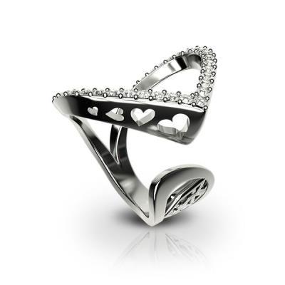 Ασημένιο δαχτυλίδι 925 με λευκές πέτρες Swarovski AD-16010L d33d65badcc