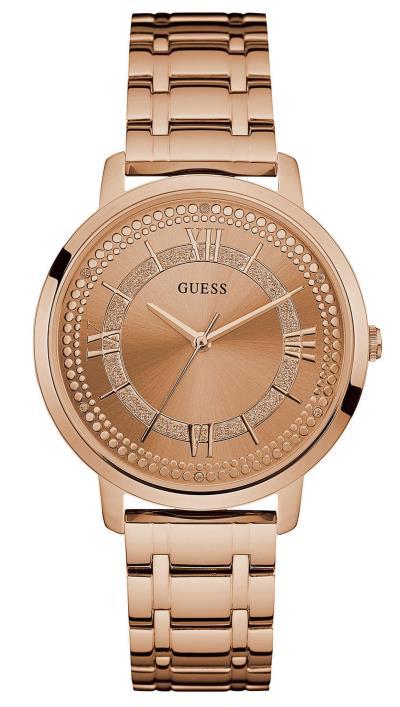 Ρολόι Guess με ροζ χρυσό μπρασελέ και κρύσταλλα W0933L3 54b9bd9b00e