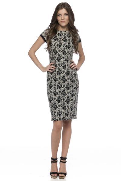 ba65d3c9c541 Φόρεμα δαντέλα κ.μ.με διαφάνεια στην πλάτη - 13550