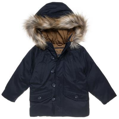 Μπουφάν με αποσπώμενη γούνα στην κουκούλα (Αγόρι 12 μηνών-5 ετών) 00260963  ΜΠΛΕ 7c82cc8fc96