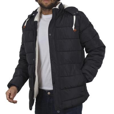 Ανδρικό Φουσκωτό Μπουφάν Puffer Jacket με Κουκούλα BLEND 20707369 Navy 9a96f687e50