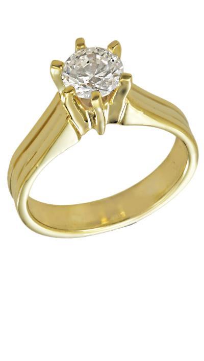 Δαχτυλίδι μονόπετρο χρυσό 14 καράτια με λευκό ζιργκόν swarovski® f82590a240e