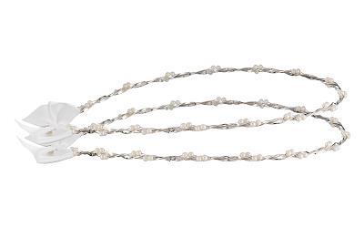 7b0200dff205 Στέφανα γάμου λευκά από ασήμι 925 με πέρλες SWAROVSKI - Ioannis Collection  - D27