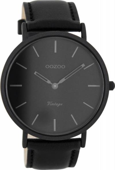 Ρολόι αντρικό OOZOO Timepieces Black Leather Strap C7733 C7733 f770b557d03