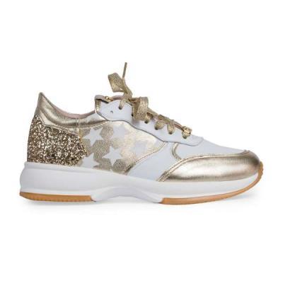 Toutounis 3683 λευκό χρυσό γυναικεία sneakers Toutounis 3683 λευκό a5b23da06a1