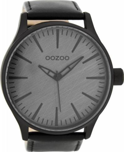 Αντρικό ρολόι OOZOO XL Timepieces Black Leather Strap C7864 C7864 c5a14d7ee44