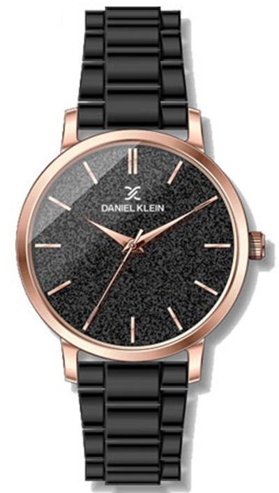 Ρολόι Daniel Klein με μαύρο μπρασελέ και καντράν DK11800-6 3627a96399d
