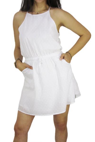 517248a27e9e Rhythm μίνι φόρεμα με τσέπες Spot λευκό - 16g-ds01