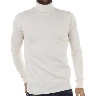 Ανδρικό Ζιβάγκο Πλεκτή Μπλούζα FUNKY BUDDHA FBM005-09218 Λευκό 86d8b385bec