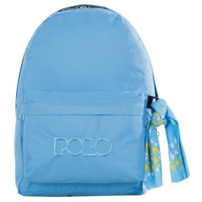 1428b08375d Τσάντα σακίδιο με μαντήλι γαλάζιο 9-01-135-25 Polo