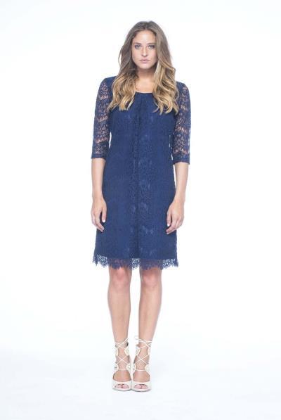 36bdc1049627 Φόρεμα δαντέλα με τελείωμα - 15551