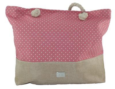 2a177a9ddb Γυναικεία τσάντα θαλάσσης Verde 14-0000022 σε ροζ χρώμα έως 3 άτοκες δόσεις