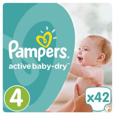 d961bf6ddc0 Pampers Active Baby Dry Value Pack No.4 (Maxi) 8-14 kg Βρεφικές Πάνες, 42  τεμάχι