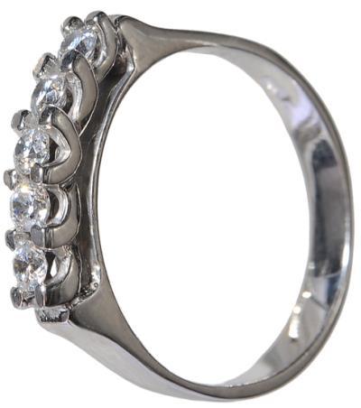 Σειρέ δαχτυλίδι λευκόχρυσο Κ14 002137 Χρυσός 14 Καράτια 44c8c208841
