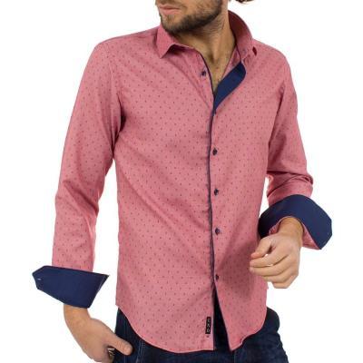 5efc101efc2b Ανδρικό Μακρυμάνικο Πουκάμισο Slim Fit CND Shirts 2500-3 Ροζ