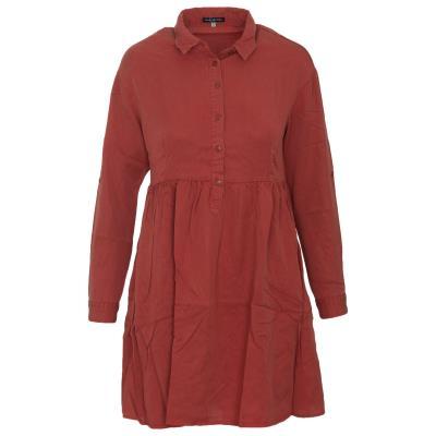 b70acdd41254 FUNKY BUDDHA W FBL120-13218 WOMAN LS DRESS 3 4 - FBL120-13218-RED RED