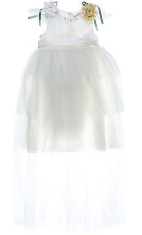 ed1b042f46d Joyful Missy παιδικό αμπιγιέ φόρεμα «Brittle White Layers»