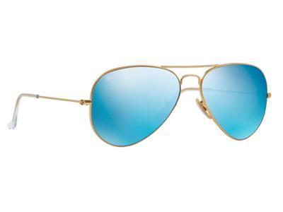 3900c87889 Γυαλιά ηλίου RayBan Aviator Flash Lenses 3025 112 17 Χρυσό Ματ Μπλε Έντονος  Καθρ