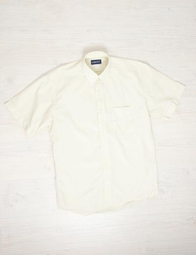 771d98974771 Ανδρικό κοντομάνικο πουκάμισο μπέζ με τσέπη 9946K