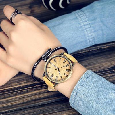 Unisex αναλογικό ρολόι χειρός - Κίτρινο 036117f71af