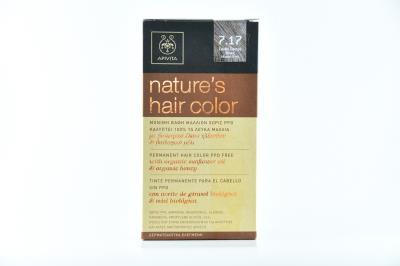 Apivita Nature s Hair Color Βαφή Μαλλιών N7.17 Ξανθό Σαντρέ Μπεζ 50ml 4001c7ab576