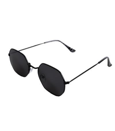 1960159a48 Γυαλιά ηλίου με πολύγωνο σκελετό και μαύρο φακό