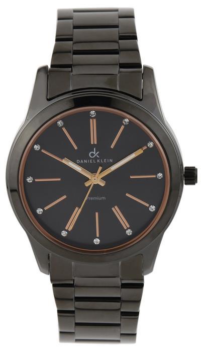 Ρολόι Daniel Klein premium με μαύρο μπρασελέ DK10560-2 a9235600ffb