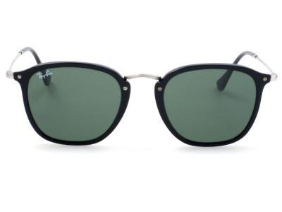 23e8411f66 Γυαλιά ηλίου Ray-Ban Round Flat RB 2448N 901 Μαύρο Γκρι Πράσινος (901)  Κρύσταλλο
