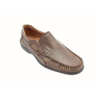 923dc89b4cd <b>Μοκασίνια δερμάτινα</b> ανατομικά ανδρικά παπούτσια Boxer 15307 πούρο.  BOXER-