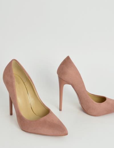 Γυναικείες μυτερές γόβες στιλέτο ροζ ψηλό τακούνι B10W 7327f9b010e