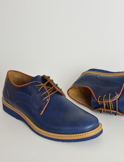 91a9d28d777c Ανδρικά δερμάτινα παπούτσια Nice Step μπλε δετά 785