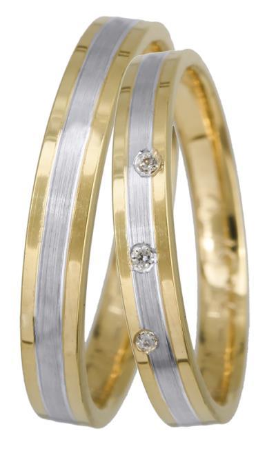 Βέρες γάμου πρωτότυπες Κ14 BRS0905DP BRS0905DP Χρυσός 14 Καράτια μεμονωμένο  τεμ d4f75829f21