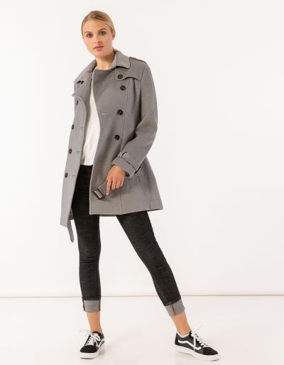 Παλτό σε στυλ καπαρντίνας με ζώνη και πλαϊνές τσέπες 8da52a2f881