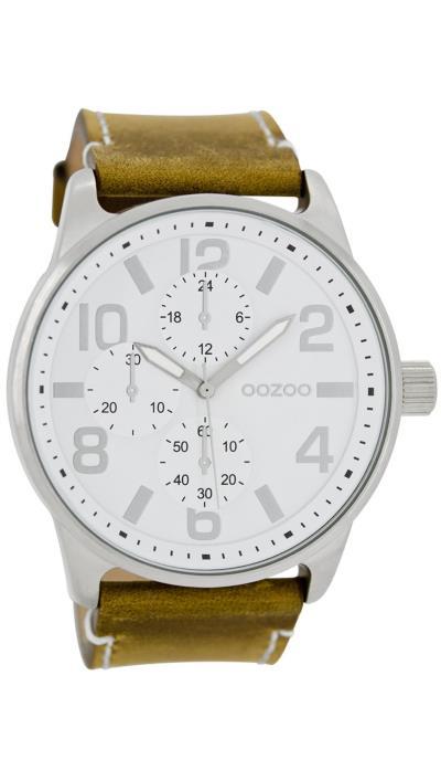Ρολόι OOZOO Timepieces με καφέ λουράκι και λευκό καντράν C7251 ec951f3dce6