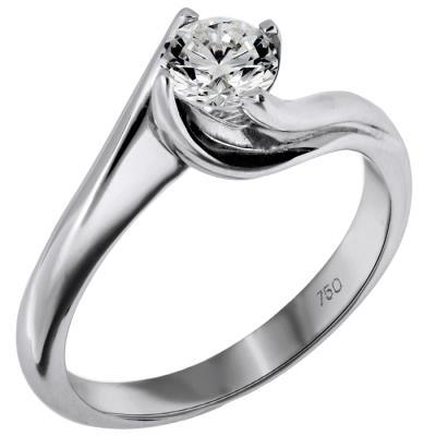 Μονόπετρο Δαχτυλίδι με Διαμάντι 017119 Χρυσός 18 Καράτια 7ba90e343a2