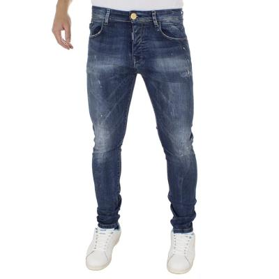 505373308b3c Ανδρικό Τζιν Παντελόνι DAMAGED Jeans D94A slim Μπλε