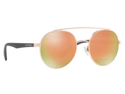 Γυαλιά ηλίου Emporio Armani EA 2051 3167 4Z Ματ Ροζ Χρυσό Μαύρο Ροζ Χρυσός  Καθρέ aa6b756860b